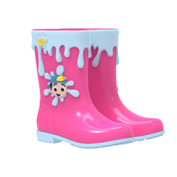 Galocha-Infantil-Grendene-Luccas-Neto-Adventure-Pink-Blue