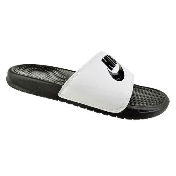 Chinelo-Slide-Nike-Benassi-Branco-Preto-Masculino