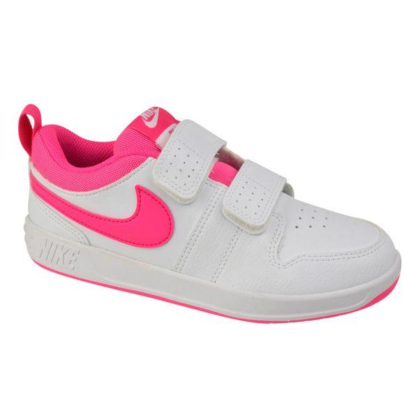 Tenis-Casual-Menina-Nike-Pico-5-Branco-Rosa