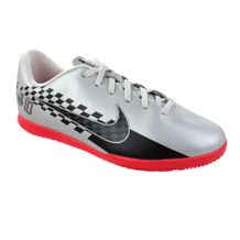 Tenis-Futsal-Menino-Nike-Vapor-13-Club-IC-Prata-Preto