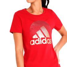 Camiseta-Adidas-Must-Have-Foil-Vermelho-Dourado