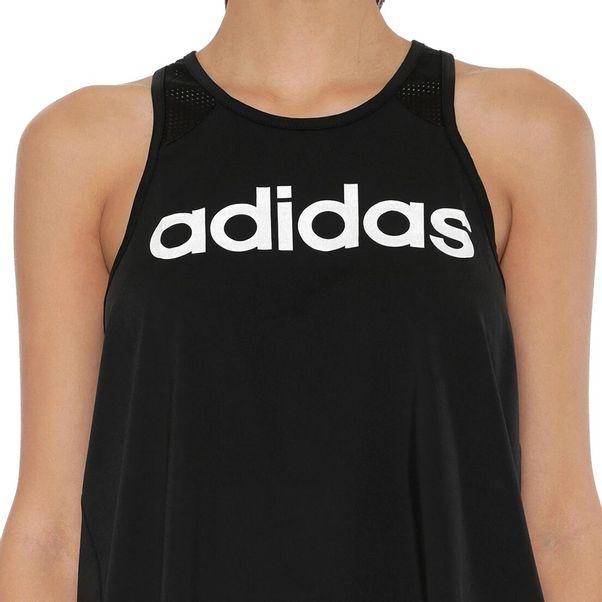 Regata-Adidas-D2M-Logo-Preto-Branco-Feminino