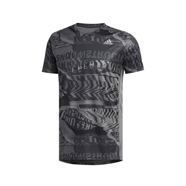 Camiseta-Adidas-Own-The-Run-Cinza-Preto