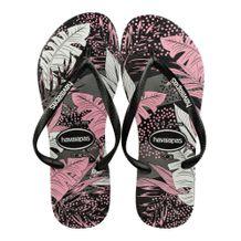 Chinelo-Slim-Havaianas-Surf-Floral-Preto-Rosa