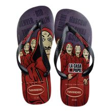 Chinelo-Havaianas-La-Casa-de-Papel-Black-Red