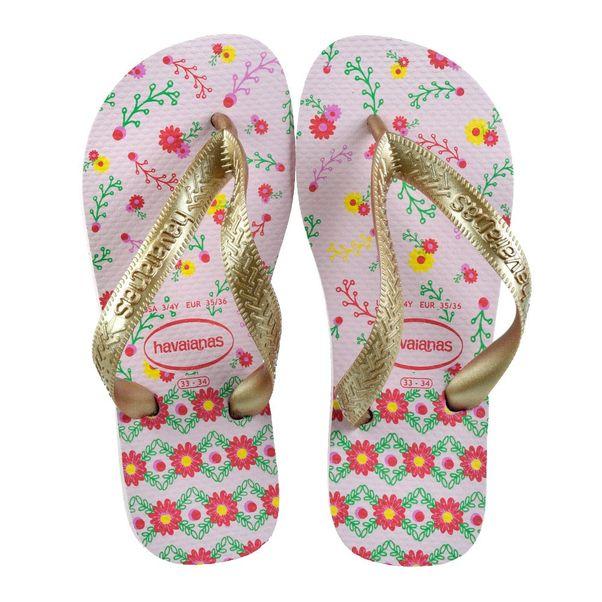 Chinelo-Menina-Havaianas-Flores-Gold-Pink