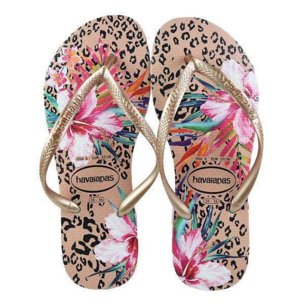 Chinelo-Menina-Havaianas-Animal-Floral-Pink-Gold