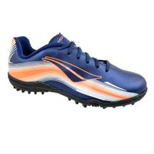 Chuteira-Society-Menino-Penalty-Carretilha-IX-Navy-Orange