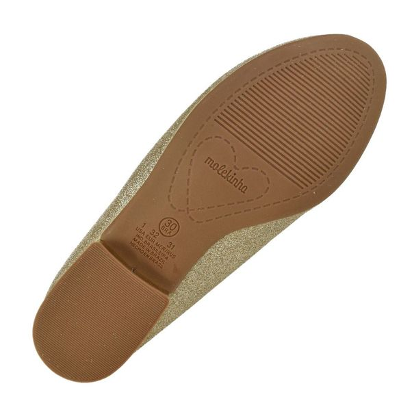 Sapato-Menina-Molekinha-Glitter-Dourado