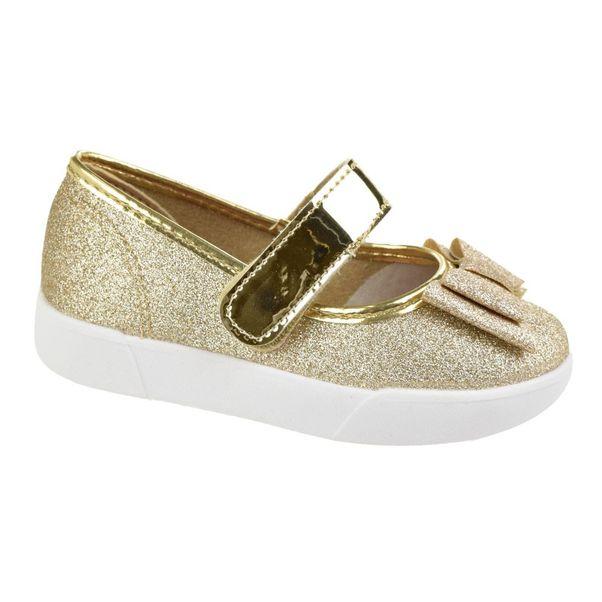 Sapatilha-Menina-Molekinha-Glitter-Glamour-Dourado