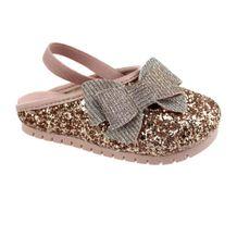 Babuche-Infantil-Molekinha-Glitter-Dourado