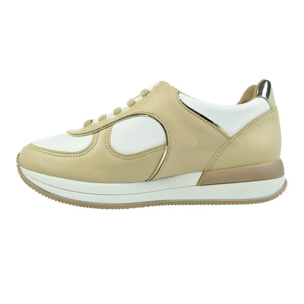 Tenis-Casual-Flatform-Piccadilly-Soft-Bege-Branco