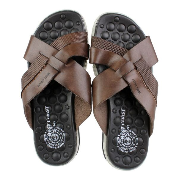 Chinelo-West-Coast-Leather-Marrom-Masculino