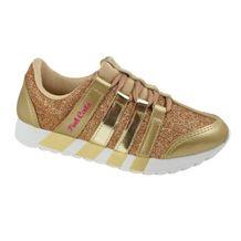 Tenis-Casual-Menina-Pink-Cats-Glitter-Dourado