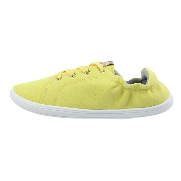 Tenis-Casual-Moleca-Lona-Amarelo-Feminino-