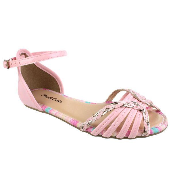 Sandalia-Rasteira-Infantil-Pink-Cats-Details-Rosa
