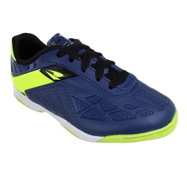Tenis-Futsal-Infantil-Dray-Topfly-X3-Navy-Green