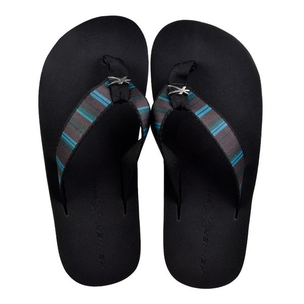 Chinelo-Kenner-HCM-Preto-Cinza-Masculino