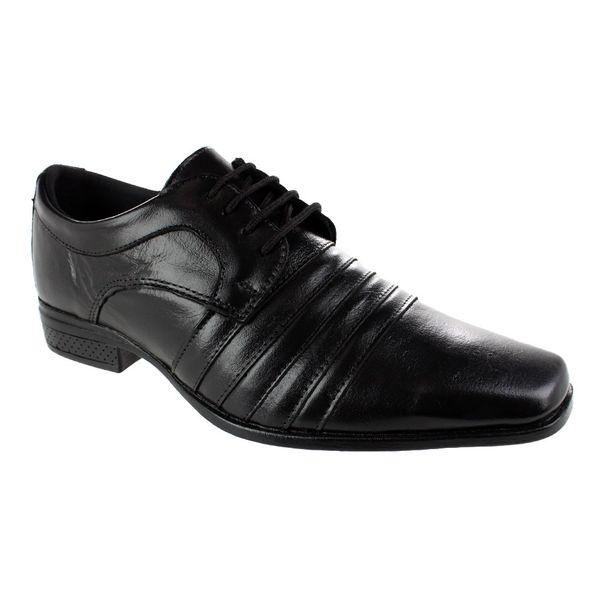 Sapato-Social-Cazzac-Shoelace-Preto-Masculino-