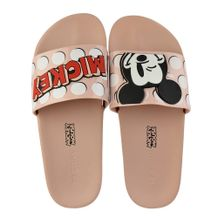 Slide-Zaxy-POP-Mickey-Bege-Feminino