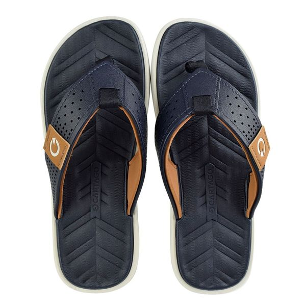 Chinelo-Menino-Cartago-Malta-IV-Navy-Brown