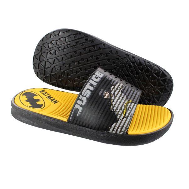 Chinelo-Menino-Slide-Liga-da-Justica-Preto-Amarelo