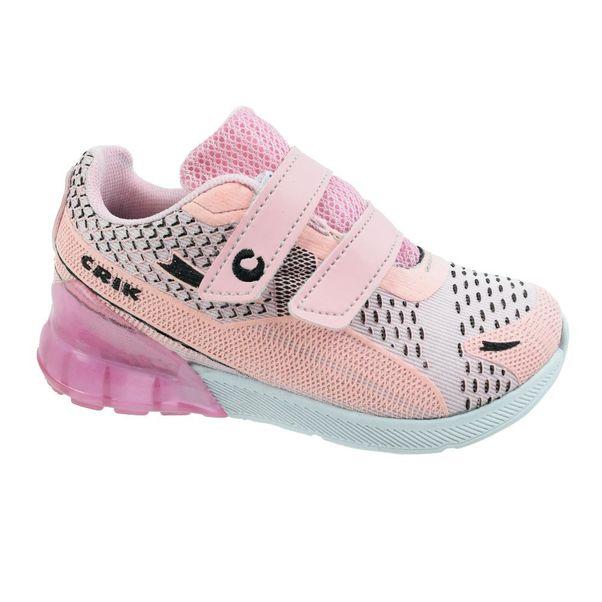 Tenis-Menino-Crik-Velcro-Rosa-Branco-