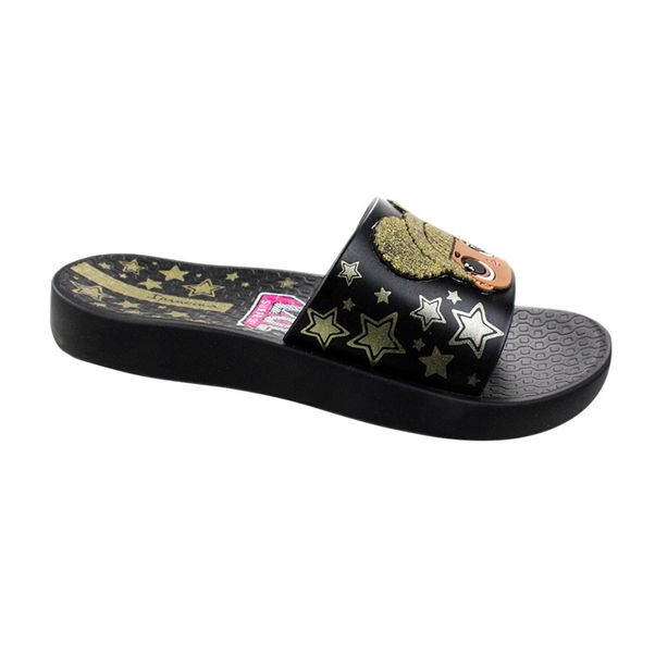 Chinelo-Slide-Menina-Ipanema-LOL-Surprise--Black-Gold