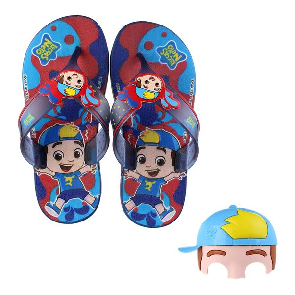 Chinelo-Infantil-Grendene-Luccas-Neto-Mask-Blue-Red
