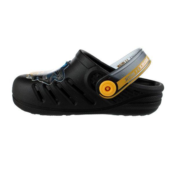 Babuche-Infantil-Grendene-Liga-da-Justica-Black-Yellow