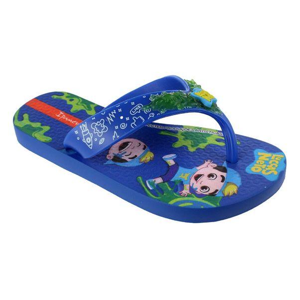 Chinelo-Infantil-Grendene-Luccas-Neto-Azul-Verde