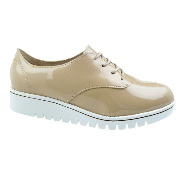 Sapato-Oxford-Tratorado-Beira-Rio-Conforto-Bege