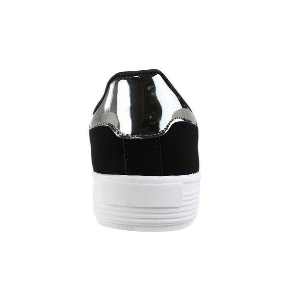 Tenis-Casual-Flatform-Done-Head-Nobuck-Black-Silver