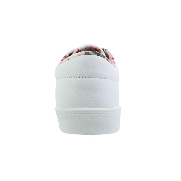 Tenis-Casual-Done-Head-Flower-Branco-Feminino