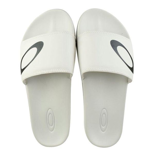 Chinelo-Slide-Oakley-Malibu-Branco-Masculino
