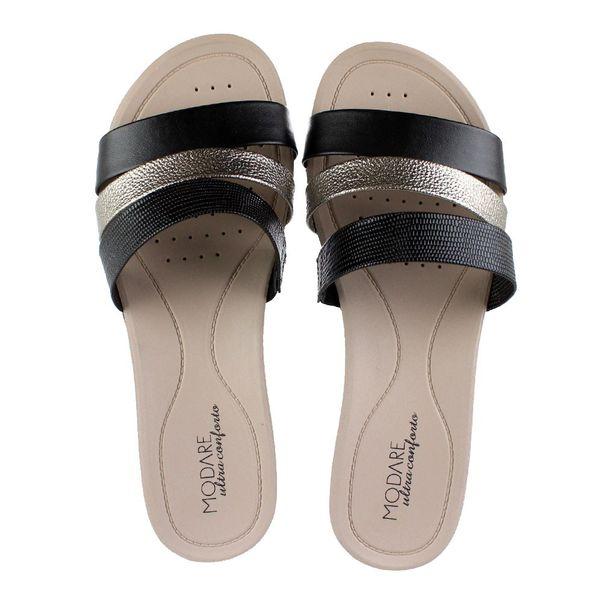 Tamanco-Modare-Combination-Preto-Dourado