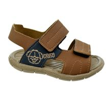 Sandalia-Menino-Klin-First-Steps-Brown-Navy