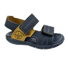 Sandalia-Menino-Klin-First-Steps-Navy-Brown