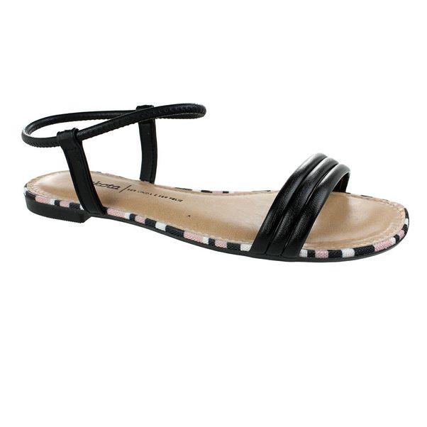 Sandalia-Rasteira-Dakota-Striped-Preto