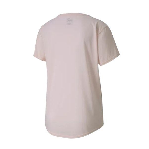 Camiseta-Puma-Evostripe-Women's-Tee-Rosa-Branco