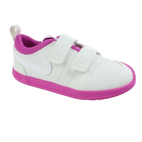 Tenis-Casual-Infantil-Nike-Pico-5-Branco-Rosa-Branco-Rosa