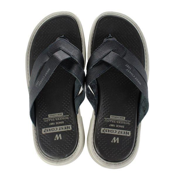 Chinelo-West-Coast-Leather-Marinho