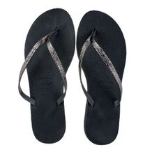 Chinelo-Havaiana-You-Shine-Preto-e-Prateado