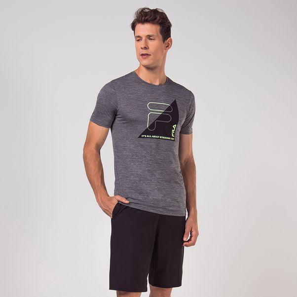 Camiseta-Fila-Training-Cinza-e-Preto