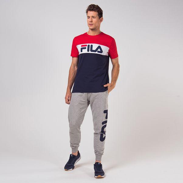 Camiseta-Fila-Colors-Marinho-e-Vermelho
