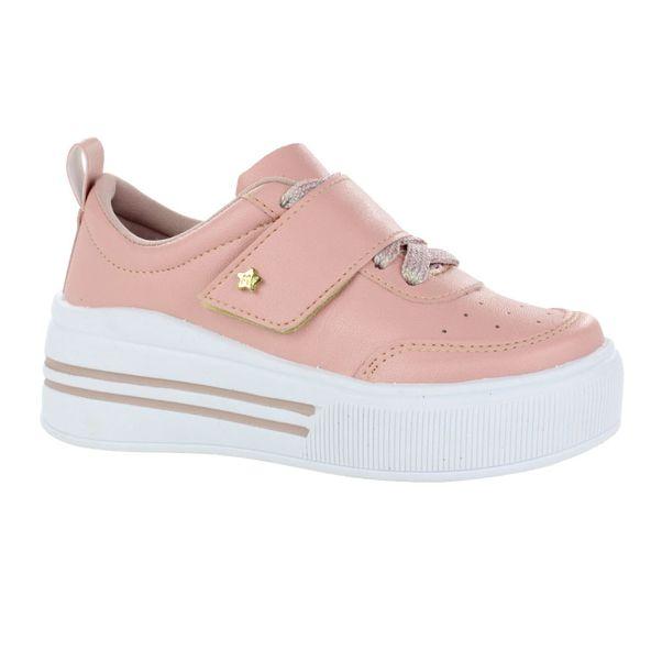 Tenis-Casual-Flatform-Infantil-Menina-Fashion-Colors-Rosa