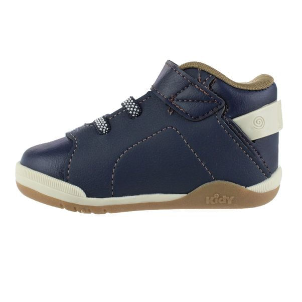 Sapatenis-Cano-Alto-Infantil-Kidy-Colors-Navy-Brown