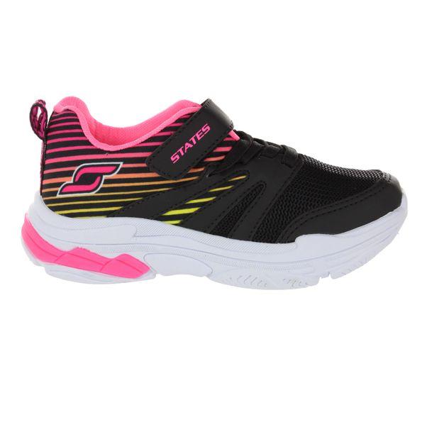 Tenis-Infantil-States-Light-Facility-Black-Pink