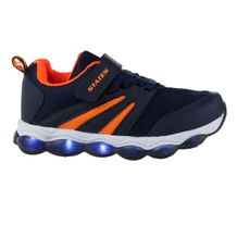 Tenis-Infantil-States-Light-Bubbles-Navy-Orange