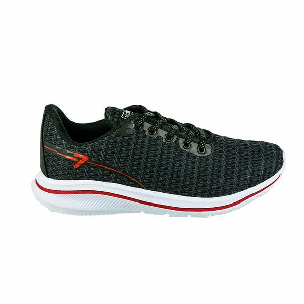 Tenis-Box200-Comfortable-Fabric-Black-Red